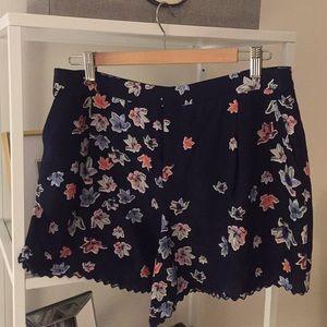 Club Monaco silk printed shorts